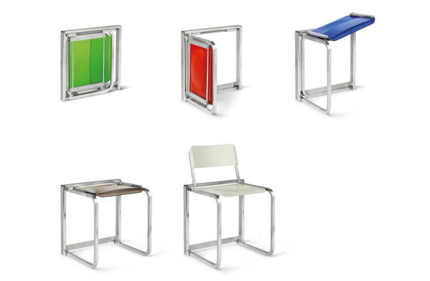 Folding Chair, Benzoville Iconic, Transformable Furniture, Stackable Chair