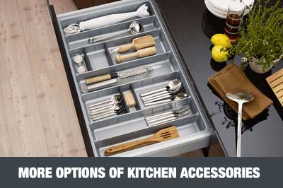 Kitchen Accessories Bottle Rack Waste Bin Cutlery Tray