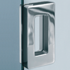Sliding door handle with invisible fixing screws <br> 60X110mm - Satin Chrome finish