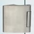 Vertical Hinge in Aluminium with vertical holes German type - Aluminium Anodised Finish