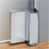 HINGE LIBRA with height adjustable for top/ bottom installation or side installation - Satin Chrome Finish