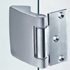 HOLLAND VERTICAL SIDE HINGE with fixing plate for rebates from 40 to 50 mm - Satin Chrome Finish