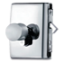 MINIMA LOCK AND CYLINDER C-07 with lock for glass sliding door with rebate for rebated doors - Right - Satin Chrome Finish
