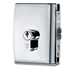 MINIMA LOCK double bevelled latch with rebate for rebated doors - Right - Satin Chrome Finish