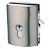 MINIMA BOTTE LOCK AND CYLINDER C-08 included with hook for glass sliding door - Satin Chrome Finish