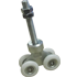 Delrin Foloding Nylon 4 Wheels Trolly - 120Kg