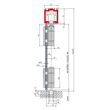 Sliding Folding System for 4 Panels - 8/10mm