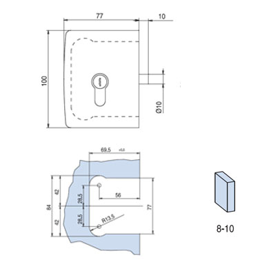 MINIMA DEADLOCK for cylinder (PZ) with rebate