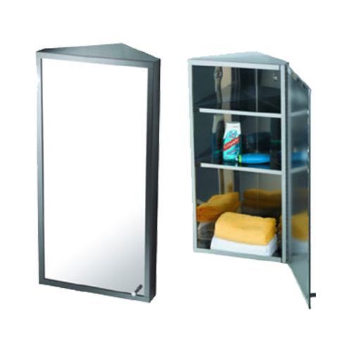 Corner Mirror Cabinet 30x60x18 5cm Chrome Plated