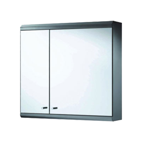 Buy Double Door Mirror Cabinet With Hood 60x55x13cm