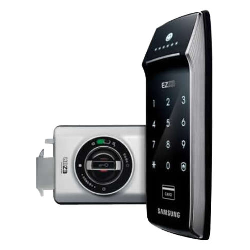 Buy Digital Touch Rim Type Lock Without Key Card Black