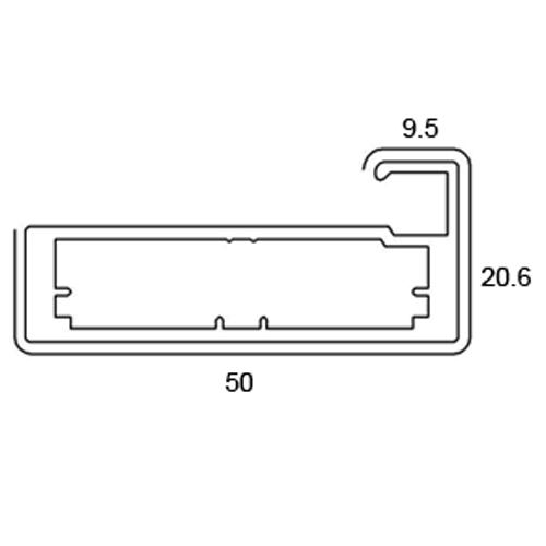 Buy Glass Frame / Shutter Profiles- 50mm Frame Profile - Length 3 ...