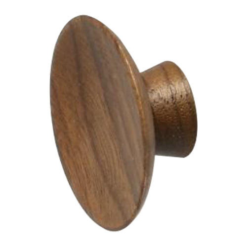 Buy Olympia Cabinet Knob 20mm Wood Walnut Lacquered Colour In India Benzoville Furnipart