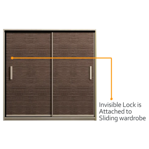 Buy Invisible Lock Complete Kit for Sliding Cabinet and Wardrobe in on