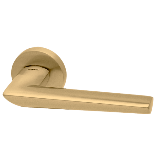 Buy Isi Lever Handle On Rose Satin Brass Finish Online