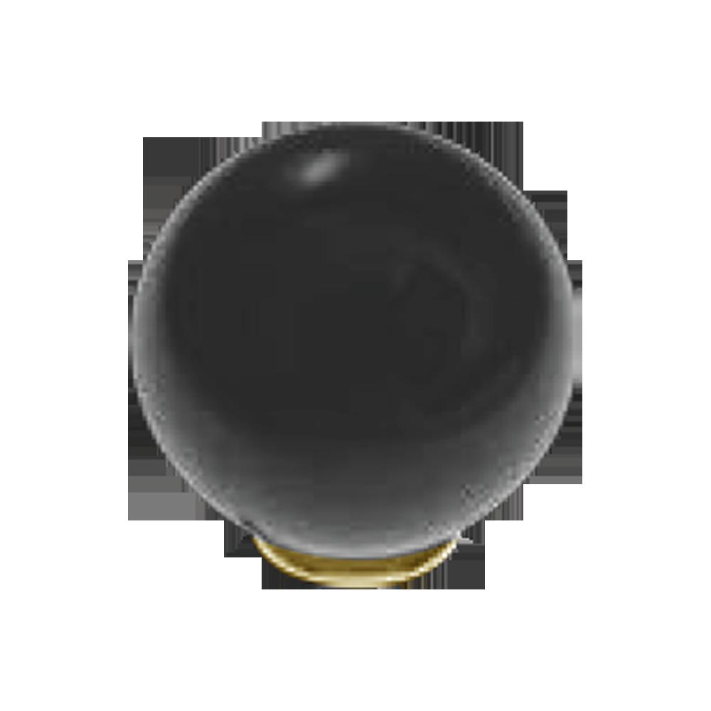 Buy SFERA P907 Murano Glass Cabinet Knob- 44mm -Black/Gold