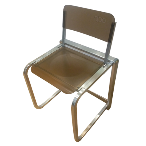 invisible folding chair qbo transparent bronze colour in india benzoville iconic. Black Bedroom Furniture Sets. Home Design Ideas