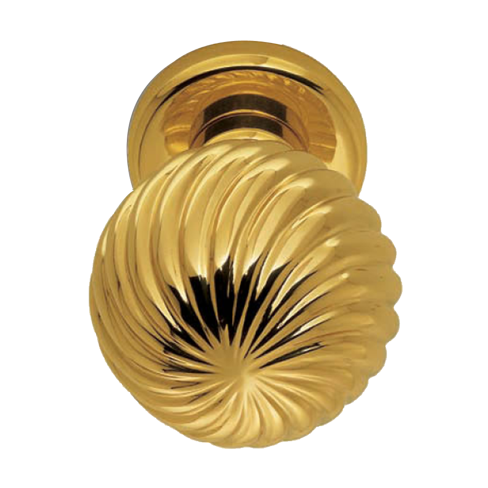 Buy Cosmos Door Knob Polished Brass Finish Online In