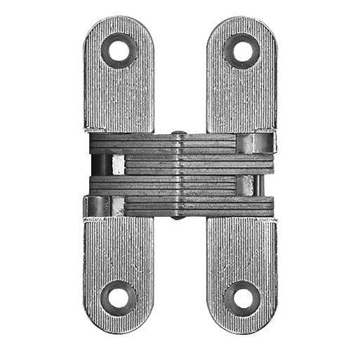 Concealed Door Hinge   95.6 X19.6mm   Nickel Plated Finish