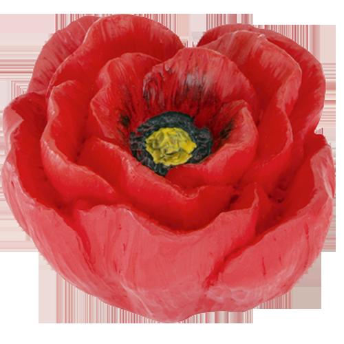 Buy poppy cabinet knob red yellow colour online in india poppy flower kids knob mightylinksfo