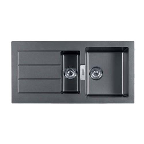 Buy Kitchen Sink - Carbon Black Colour - 1000X510mm Online in India ...