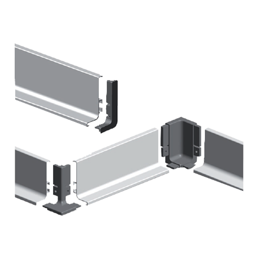 Buy Aluminum Grip J Profiles For Drawer Polished Chrome