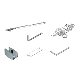 Complete Kit for 2 way Soft Close 100 Kg Glass Door with Bilateral Damper - Silver