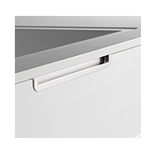 HIDE Cabinet Handle - Zamak Inox Look - 200mm Mdern Design (Front Mounting)