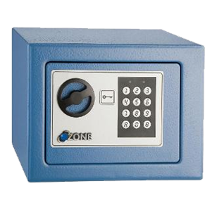 Digital Code Secure Safe - Blue - (W)230 x(H)170x(D)170mm