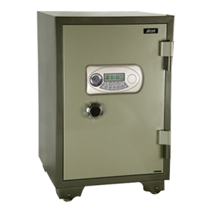 Electronic Safe Fire Proof  - Jewellery/retail Safe - (W)700X(H)1260X(D)640mm - Green Colour