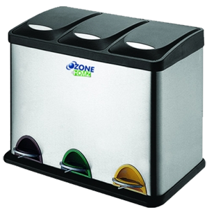 3 Compartment dustbin