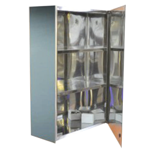 Single Pipe Cabinet - 35X50X13cm - Chrome Plated