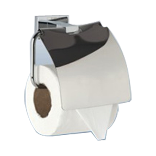 EDRA COLLECTION - Toilet Paper Holder with Flap -  Chrome Plated Finish