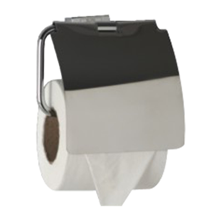EKKO COLLECTION - Toilet Paper Holder with Flap -  Chrome Plated Finish