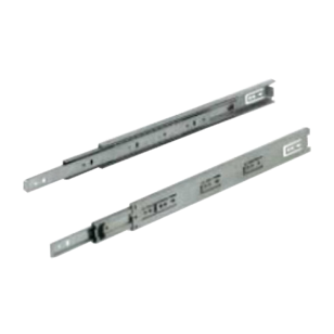 Drawer Runners Ball Bearing Slides Side Mounted Full Extension - 450mm - Zinc Plated Finish - Load Capacity - 30kg