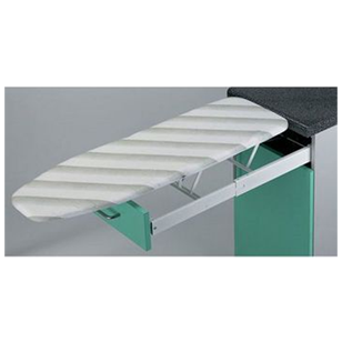 Built-In Ironing Board (Drawer Mounted)- 450mmX600nnX155mm - Steel & White Plastic Colour