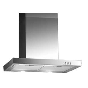 Wall Mounted Built-in Chimney T-Box - 60cm - Stainless Steel Finish
