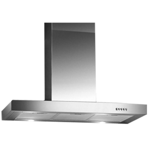 T-Box Wall Mounted Built-in Chimney Electronic Switch Control - 90cm - Stainless Steel Finish