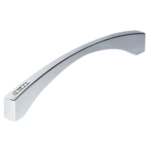 Cabinet Handle - 173mm - Crystal & Bright Chrome Finish
