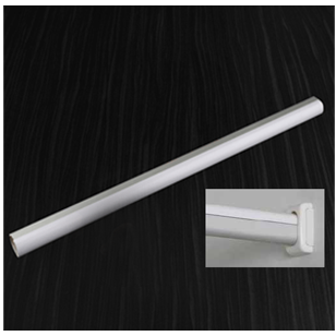 Aluminum Oval Rod Hanging with White plastic Strip - Noise Reduction