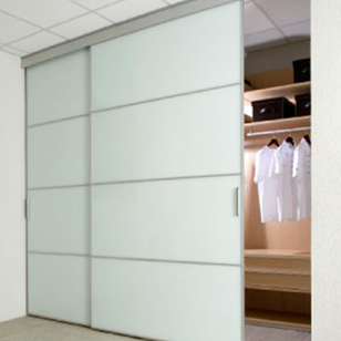 Wardrobe Sliding Fitting for 2 Doors (Overlap) 100 Kg with 2 Mtr track - Made in Italy