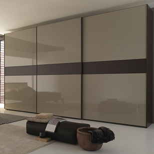 Wardrobe Sliding Fitting for 3 Doors (Overlap) 100 Kg with 4 Mtr track - Made in Italy
