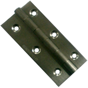 Door Hinges - 3x 1/2 x 3/4 Inch - Stainless Steel Finish - Brass Material