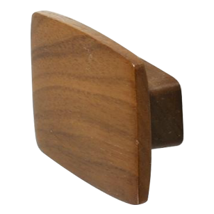 QUATTRO Cabinet Knob - 32mm - Wood Walnut Lacquered Colour