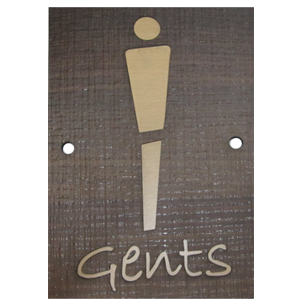 GENTS Signage - Dark Wood