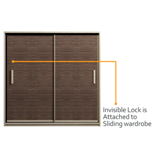 Invisible Lock Complete Kit for Sliding Cabinet and Wardrobe