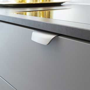 WOW Cabinet Handle - 96mm - Inox Look Finish