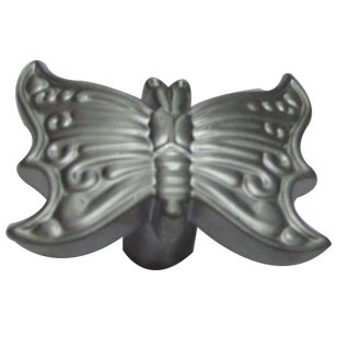 Butterfly Cabinet Knob - Satin Chrome Finish - 25X40X20mm