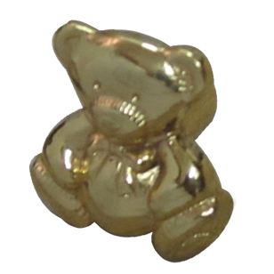 Teddy Bear Small Cabinet Knob - Gold Finish - 25X25X25mm