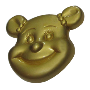 Cartoon Cabinet Knob - Matt Gold Finish - 30X30X25mm